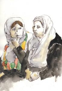 Mujeres en una asamblea