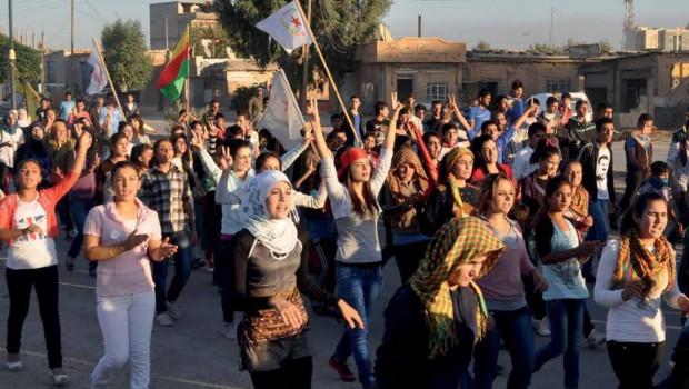 Manifestación Rojava