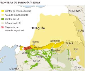 Area de control turco en Rojava