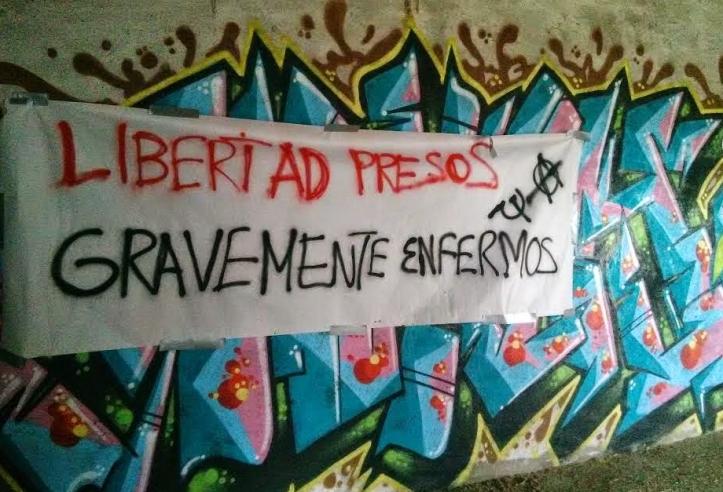 pancarta libertad presos enfermos