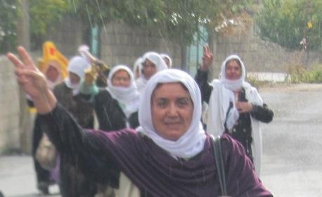 Madres por la paz al acabar la concentración