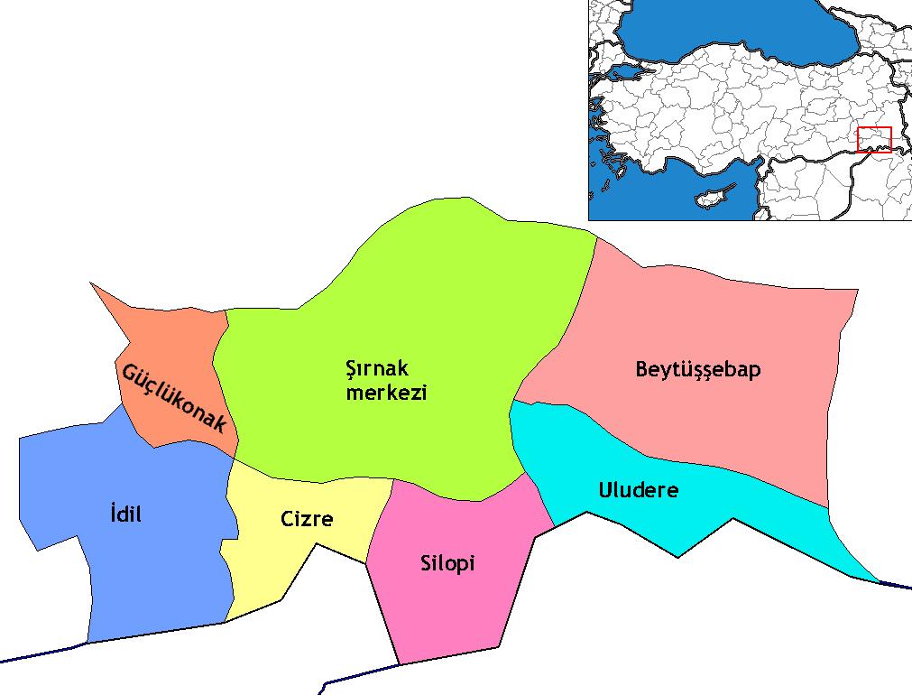 Şırnak_districts