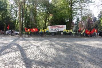 Manifestación pro-kurda ante la visita de Davutoglu