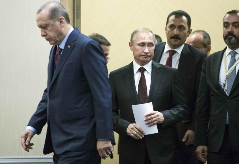 Russia's President Putin meets with Turkey's President Erdogan in Sochi