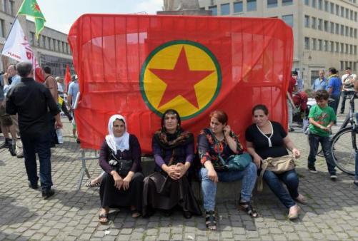 Mnifestación en apoyo al PKK en Europa