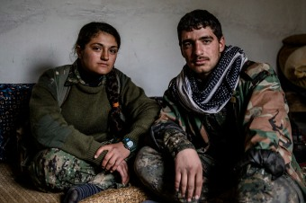 Syria - Kurdish YPG on frontline with Islamic State in Rojava